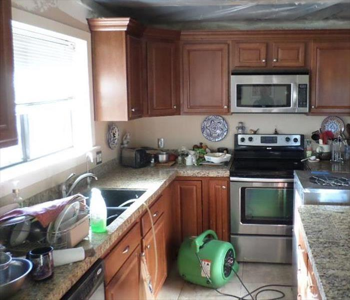 Firefighting Damage in Kitchen After